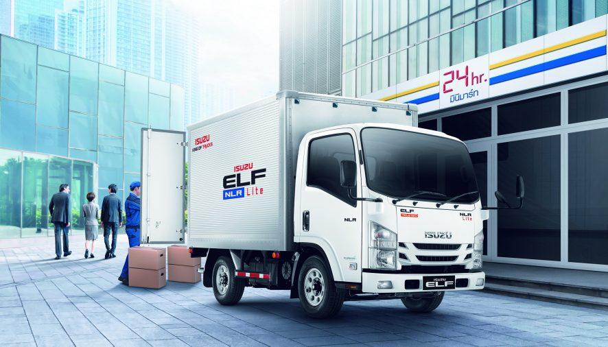 """อีซูซุเปิดตัวรถบรรทุก 4 ล้อตระกูลเอลฟ์ รุ่นใหม่! """"NLR Lite""""เพิ่มความคุ้มค่า…ขนส่งสะดวกทุกเวลา"""