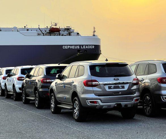 โรงงานฟอร์ดเหมาเรือส่งออกรถยนต์ ครั้งใหญ่ที่สุดสู่ออสเตรเลีย